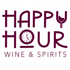 Happy Hour Wine & Spirits Square Logo